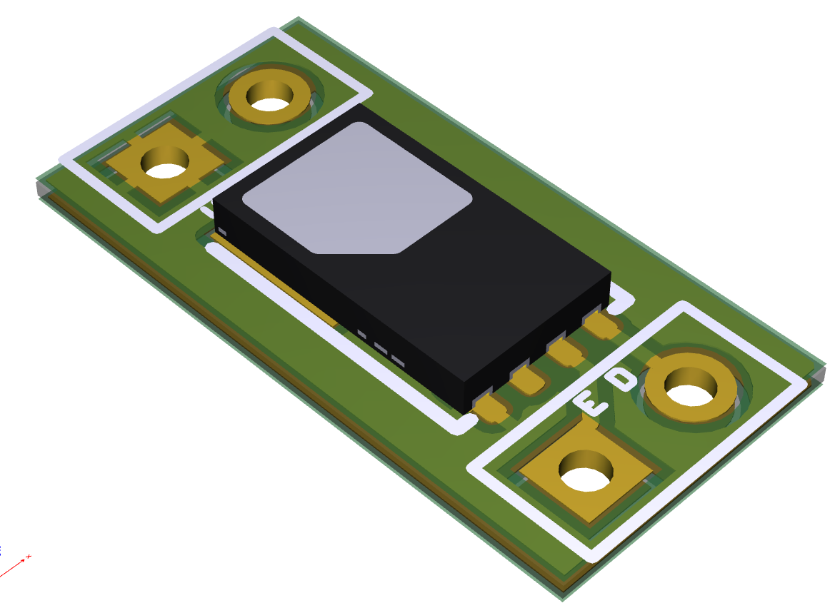 TS4112 Breakout Board 100-mil headers